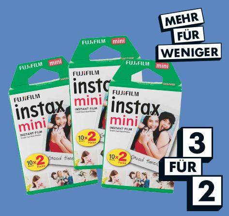 Mehr für weniger-Aktionen bei Hema online, z.B. 3 für 2 Fujifilm Instax Mini Packs (60 Bilder)