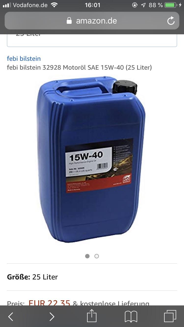 15W-40 Febi Bilstein Motoröl (Preisfehler)