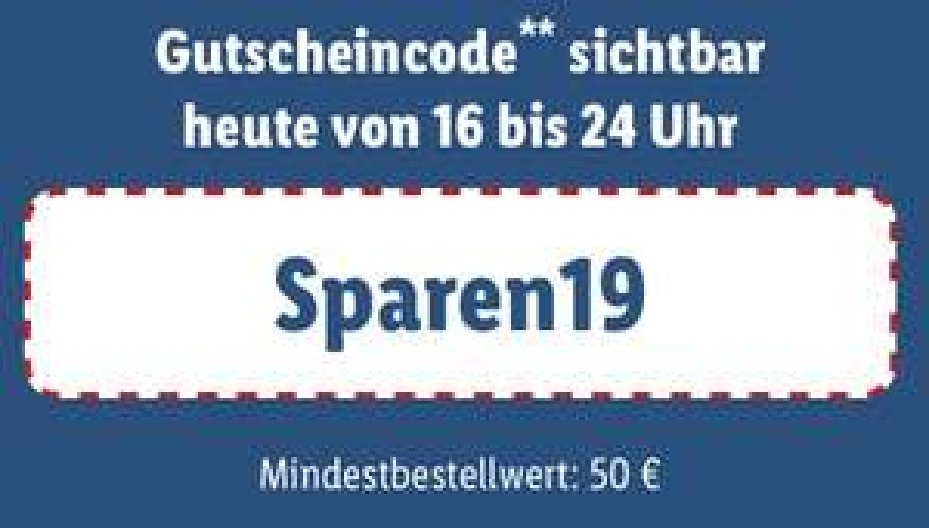 Heute 4,95€ Versandkosten sparen von 16-24 Uhr ab 50€ Einkaufswert [Lidl]