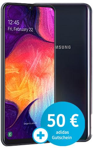Galaxy A50 mit congstar AllnetFlat 8GB | 25€ mtl. | einmalig 1€ + 50€ adidas Gutschein & Samsung microSD Card 256GB
