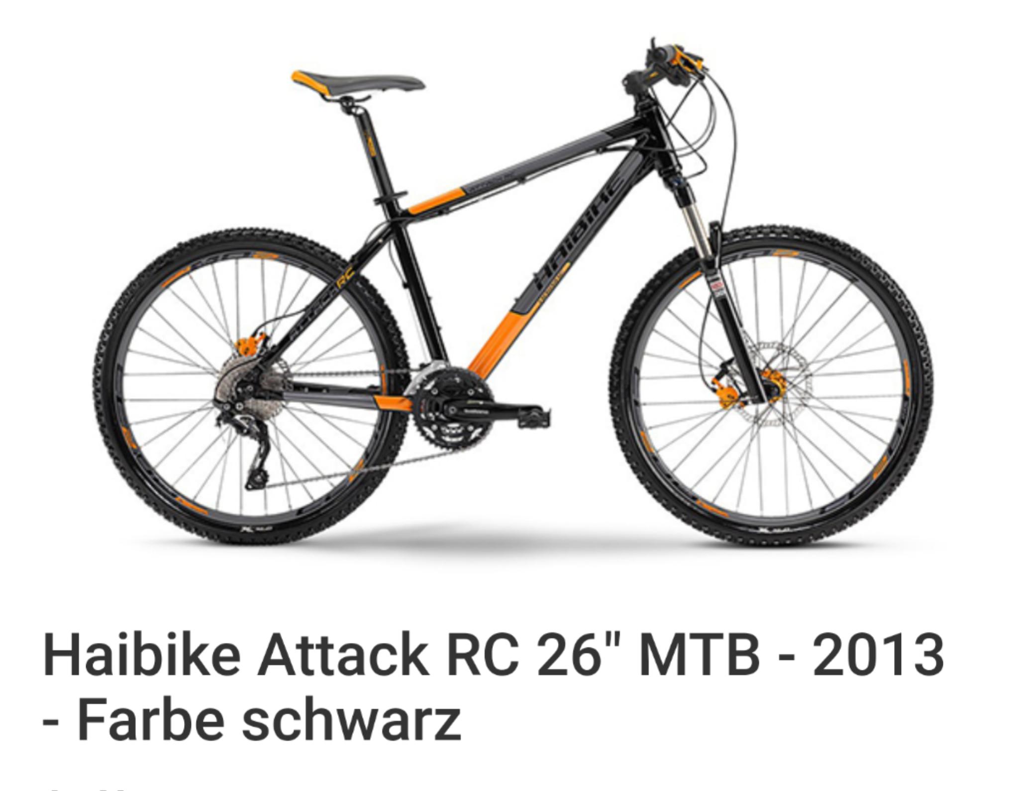 "Haibike Attack RC 26"" MTB - 2013 - Farbe schwarz"