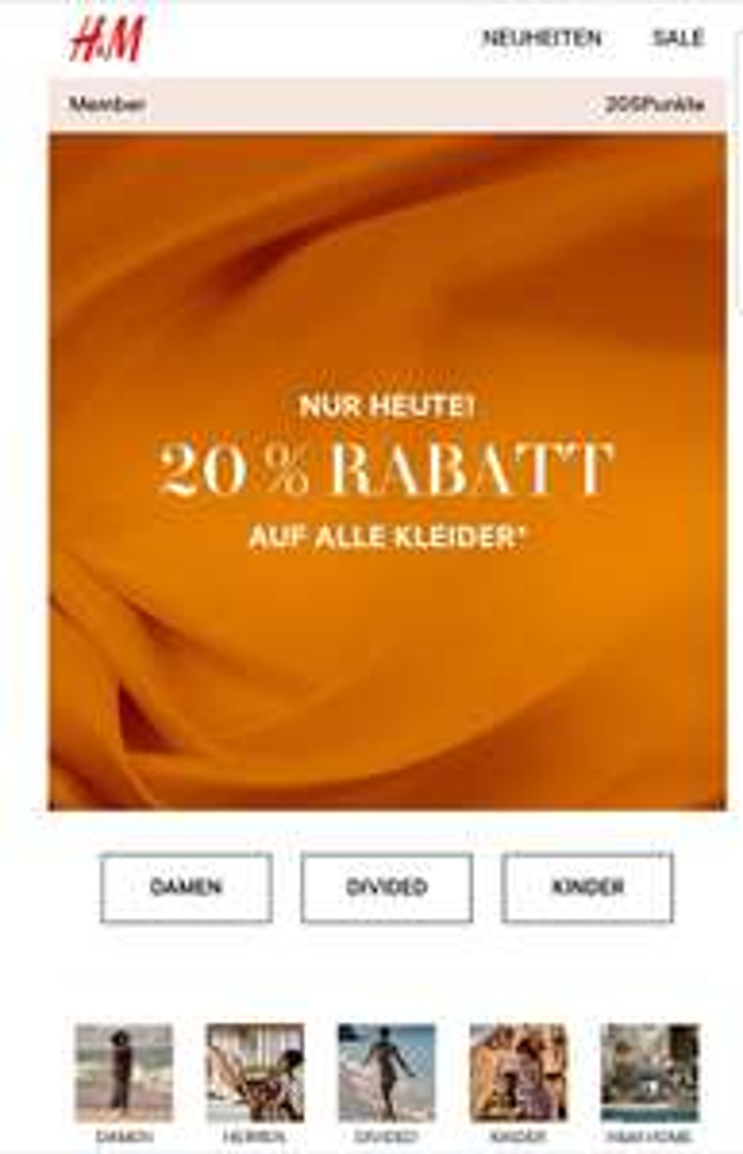 [H&M online] 20% auf Kleider