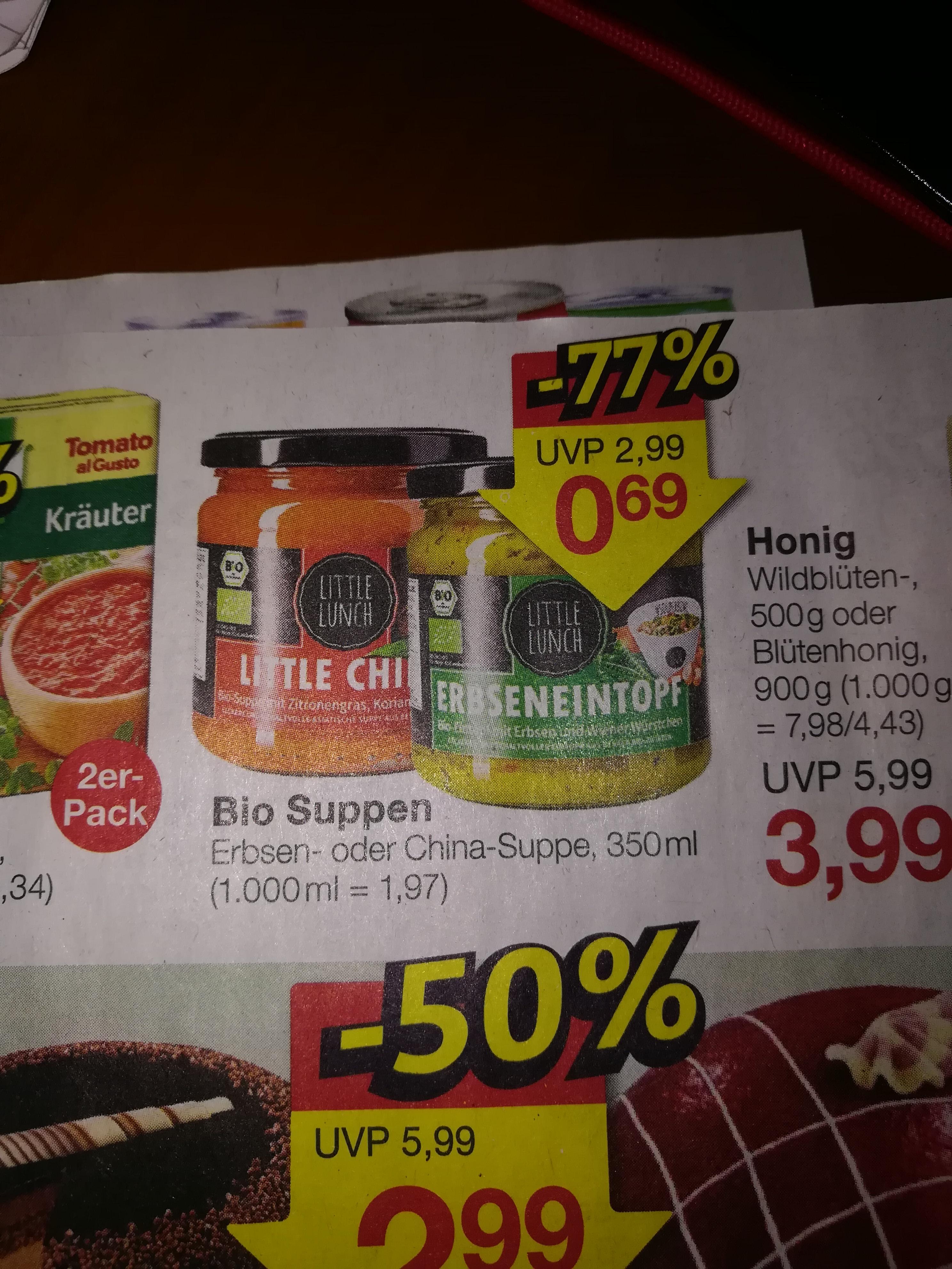 [Jawoll] Little Lunch Bio Suppen für 0,69€