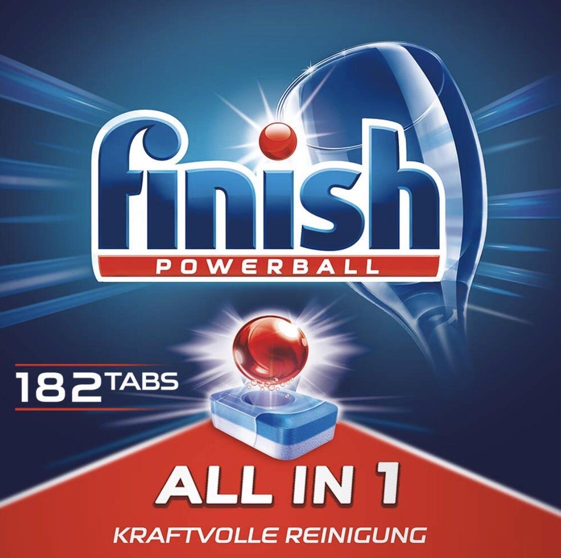 Finish Powerball All in One Spülmaschinentabs 182 Stück =8 Cent/Stück ( 12,99 bzw .7 Cent ab 5 Sparabos )