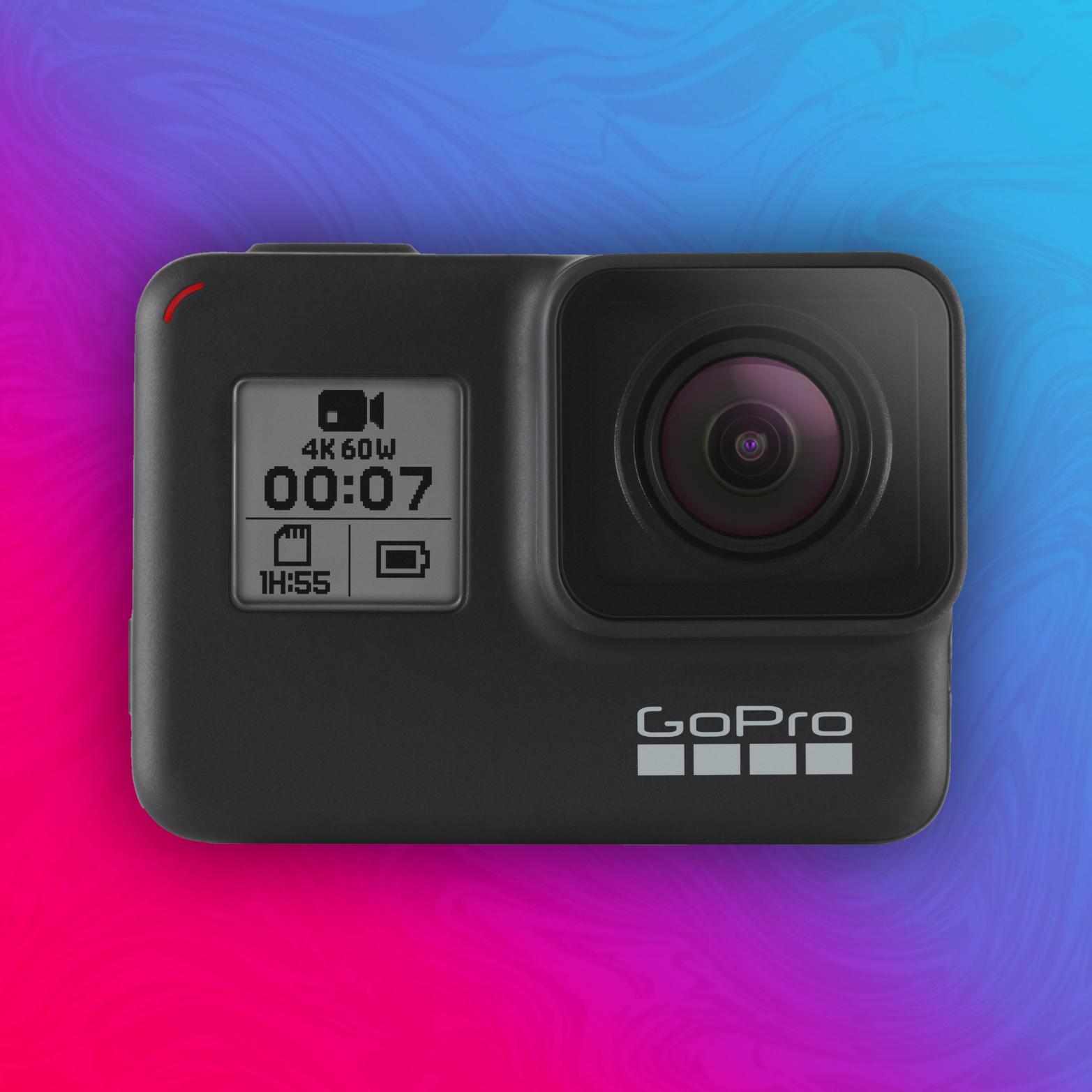 GoPro Hero 7 Black: Action Kamera - 4K/60fps - Livestream - Sprachsteuerung | Versand aus UK