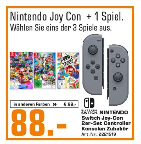 [Regional Saturn Weiterstadt,Hanau,Darmstadt und Bad Homburg] Nintendo Switch Joy-Con 2er-Set grau + Super Smash Bros. Ultimate  für 88,-€