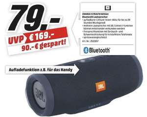 [Lokal: Media Markt Heilbronn & Bad Kreuznach] JBL Charge 3 Stealth Edition - Bluetooth Lautsprecher (Freisprechen, JBL Connect)