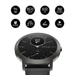 Withings / Nokia Steel HR Hybrid Smartwatch Black - Sapphire Glass - Limited Edition - 40mm Amazon Vorbestellbar (1 bis 3 Wochen Lieferzeit)