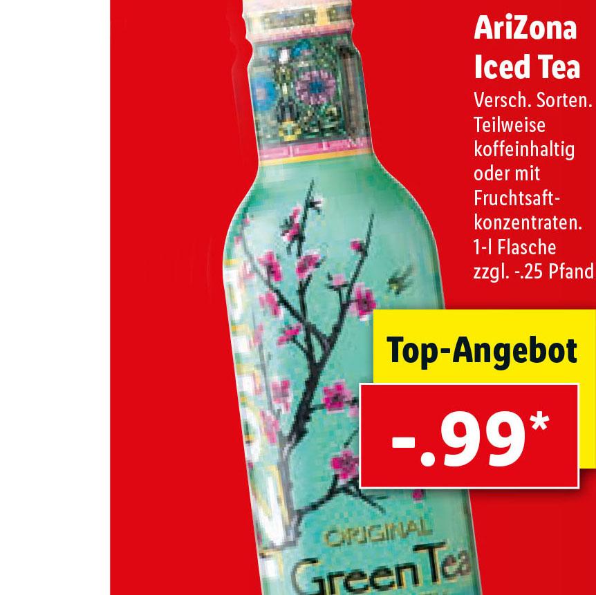 AriZona Iced Tea 1 Liter für nur 99 Cent bei ( Lidl ab 3.6.)
