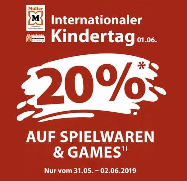 Müller 20% auf Spielwaren und Games [bundesweit ab 31.5.] z.B. Anno 1800 43,99€