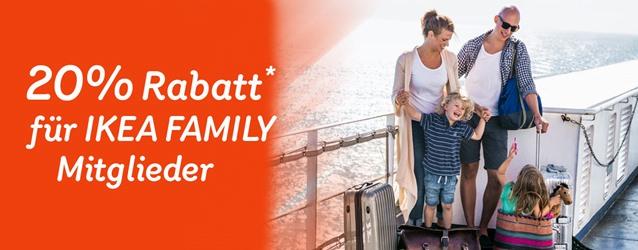 Stena Line: 20% Rabatt für IKEA Family-Mitglieder (Fähre, Route kombinierbar)