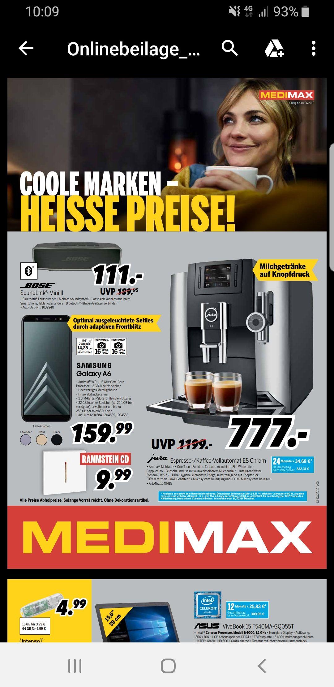 Jura E8 Kaffeevollautomat für 777€ bei MEDIMAX
