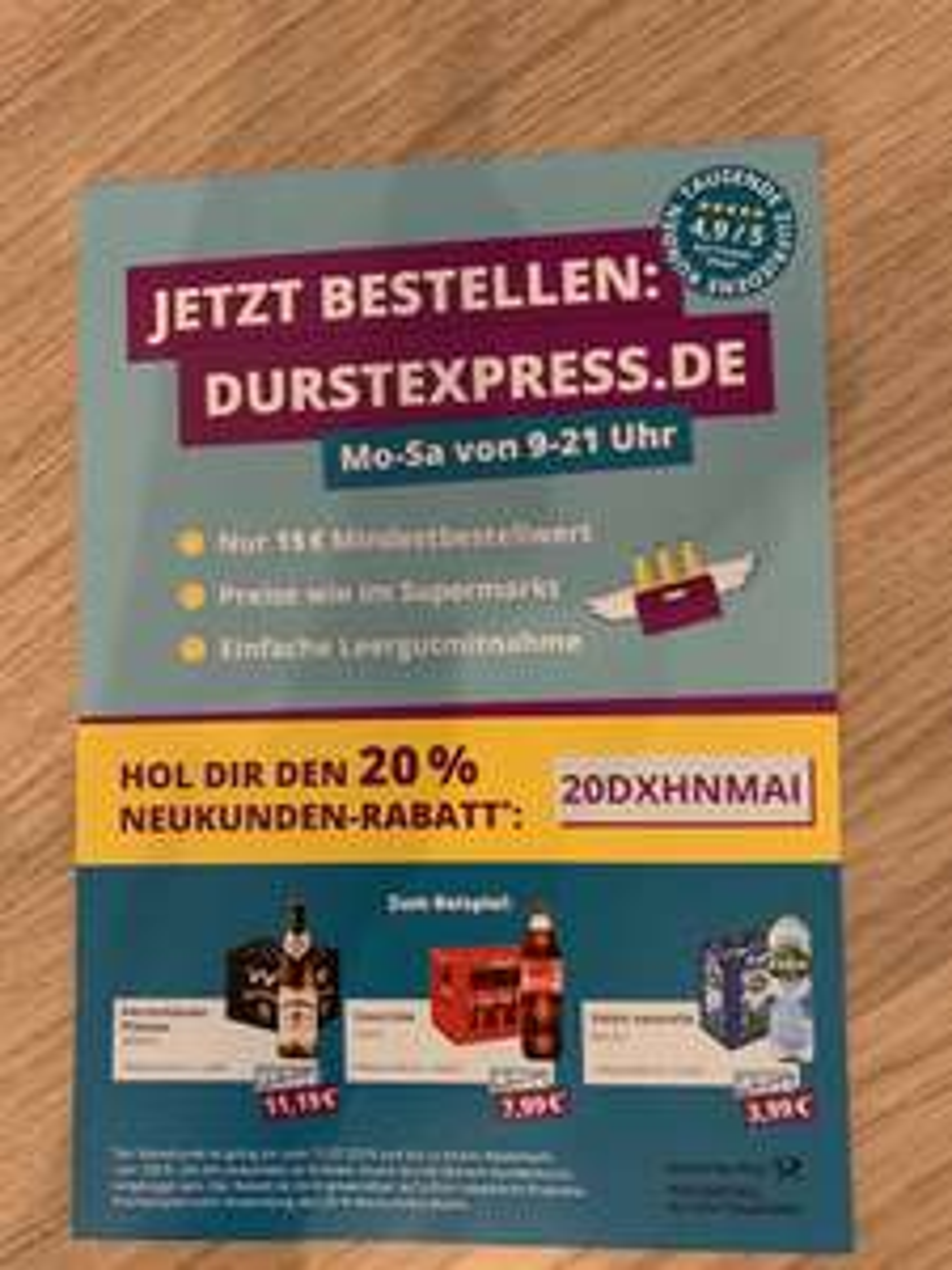 20% Neukundenrabatt bei Durstexpress - Hannover [Lokal]