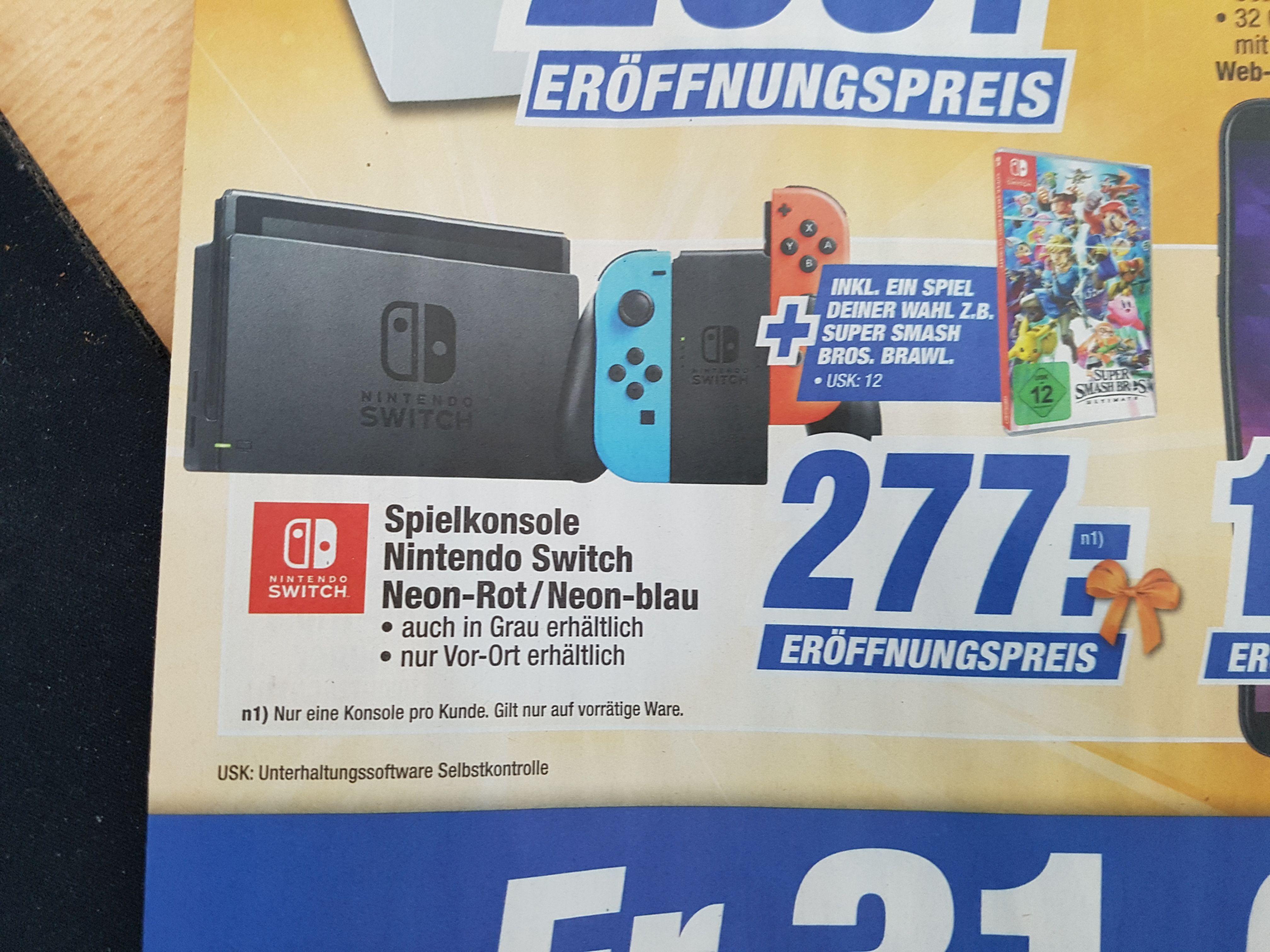 [Regional Expert Nienburg/Neustadt/Stadthagen ab 31.05] Nintendo Switch Konsole inc. 1xSpiel nach Wahl (ganzes Sortiment) für 277,-€