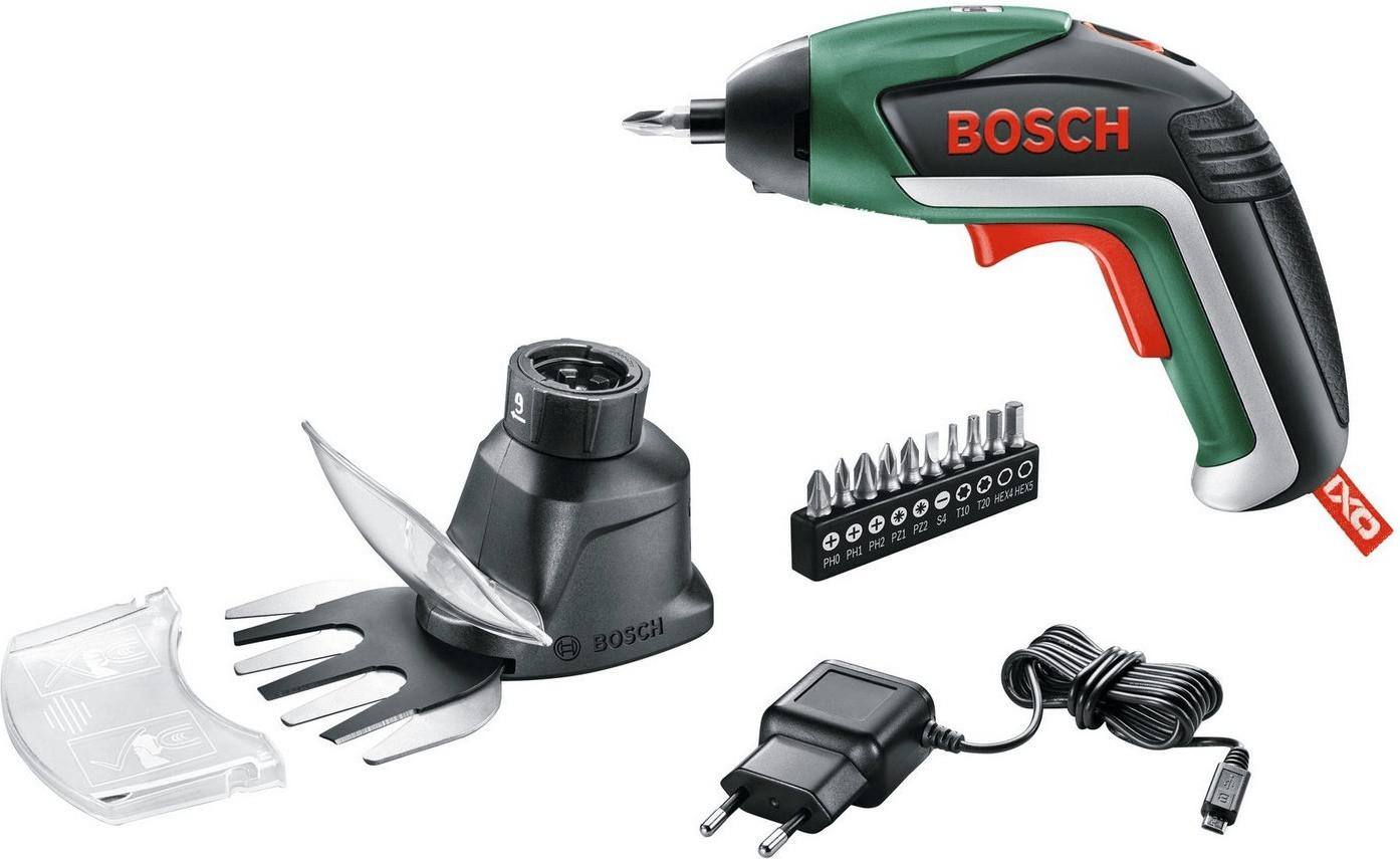 (in allen Filialen) Bosch Home and Garden IXO V Garden Akku-Schrauber 3.6 V inkl. Gras- und Strauchscherenvorsatz für 23,45€ - CONRAD
