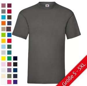 [ebay] Fruit of the Loom T-Shirt Valueweight Baumwolle 33 Farben