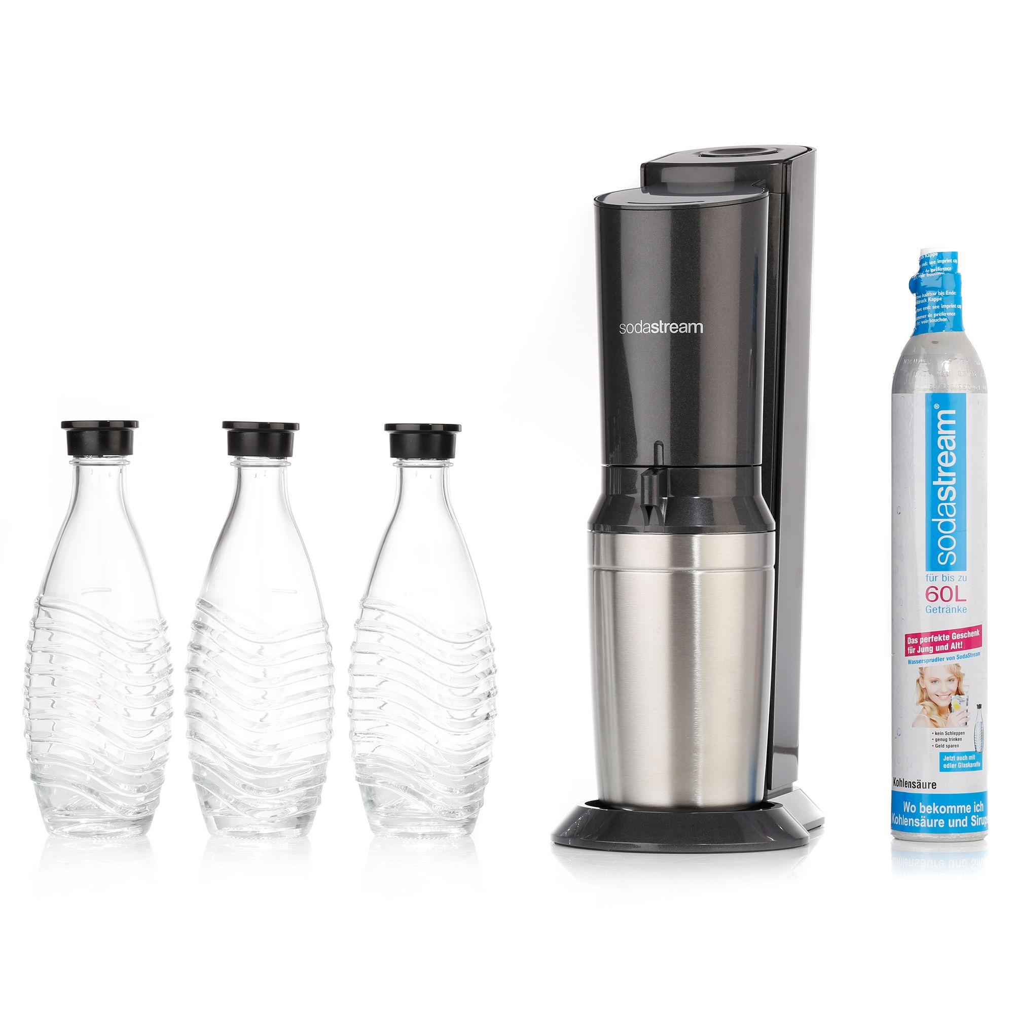 Sodastream Crystal 2.0 + 3 Karaffen + 1 Zylinder mit 10€-Neukunden-Gutschein