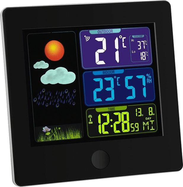 TFA Dostmann Sun Funkwetterstation mit Sender (Temperatur und Luftfeuchtigkeit, Funkuhr, Alarm, Wettervorhersage)