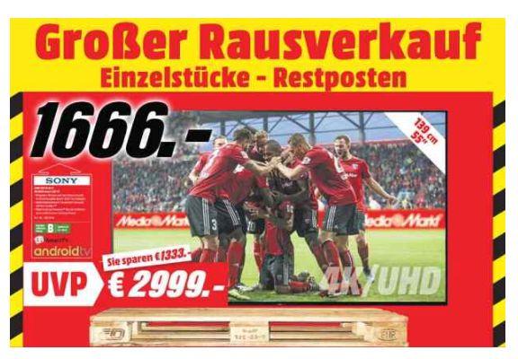 [Regional Mediamarkt Buxtehude] Sony KD55AF9BAEP Schwarz 139cm 4K UHD OLED SmartTV für 1666,-€