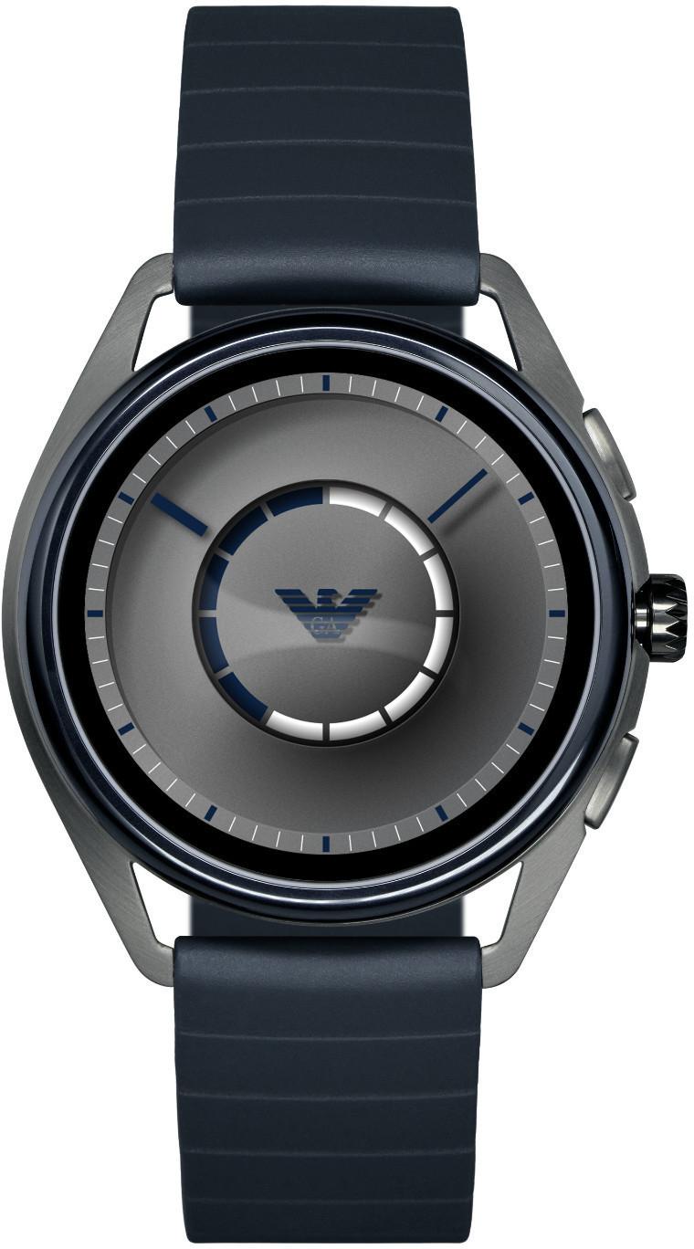 Emporio Armani Connected Gen4 Smartwatch Gummi blau [Saturn & MediaMarkt]