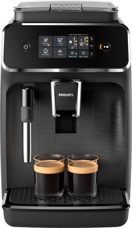 Kaffeevollautomat Philips EP2220/10 (15bar, 1.8l Wasser mit Filter, 275g Bohnen, 12-stufiges Keramikmahlwerk, Touch-Oberfläche)