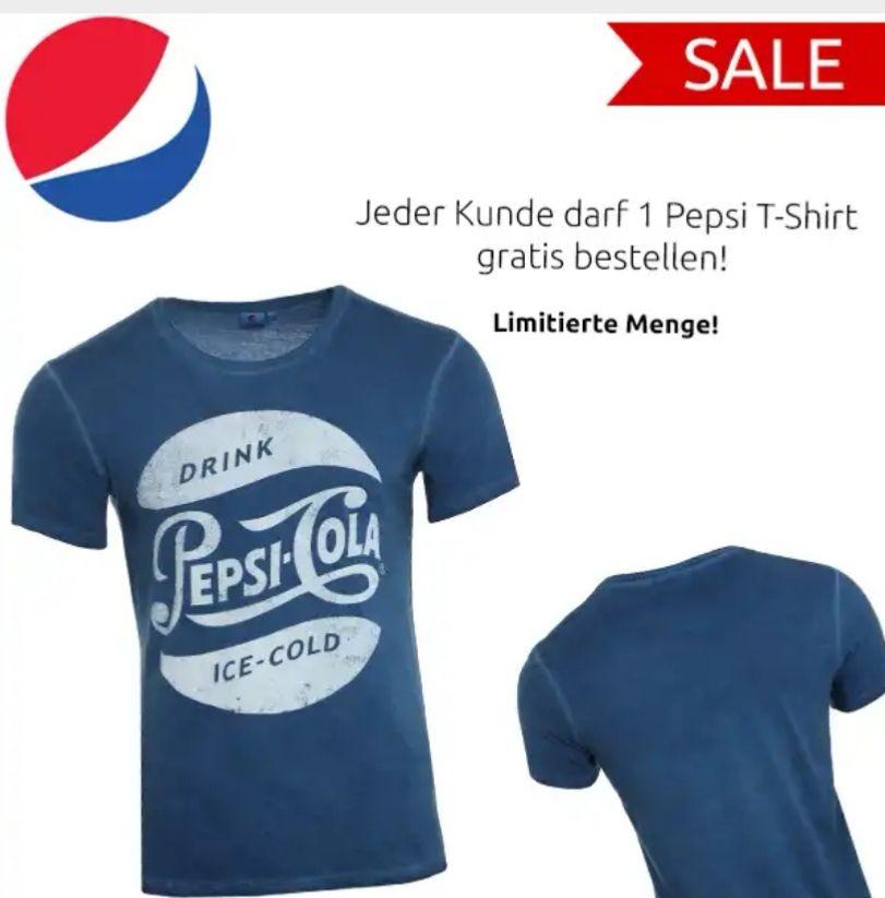 PepsiCo Herren T-Shirt Retro Kurzarm-Shirt Blau / Verfügbare Grössen: S - XXL