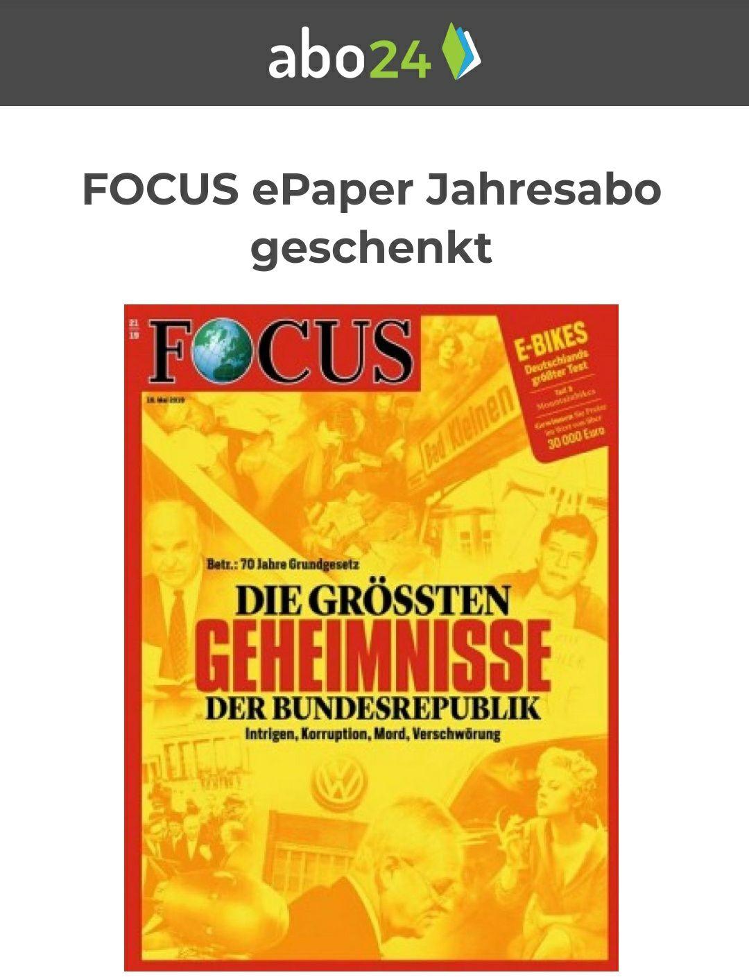 [Abo24] Focus e-paper 12 Monate umsonst & selbstendend