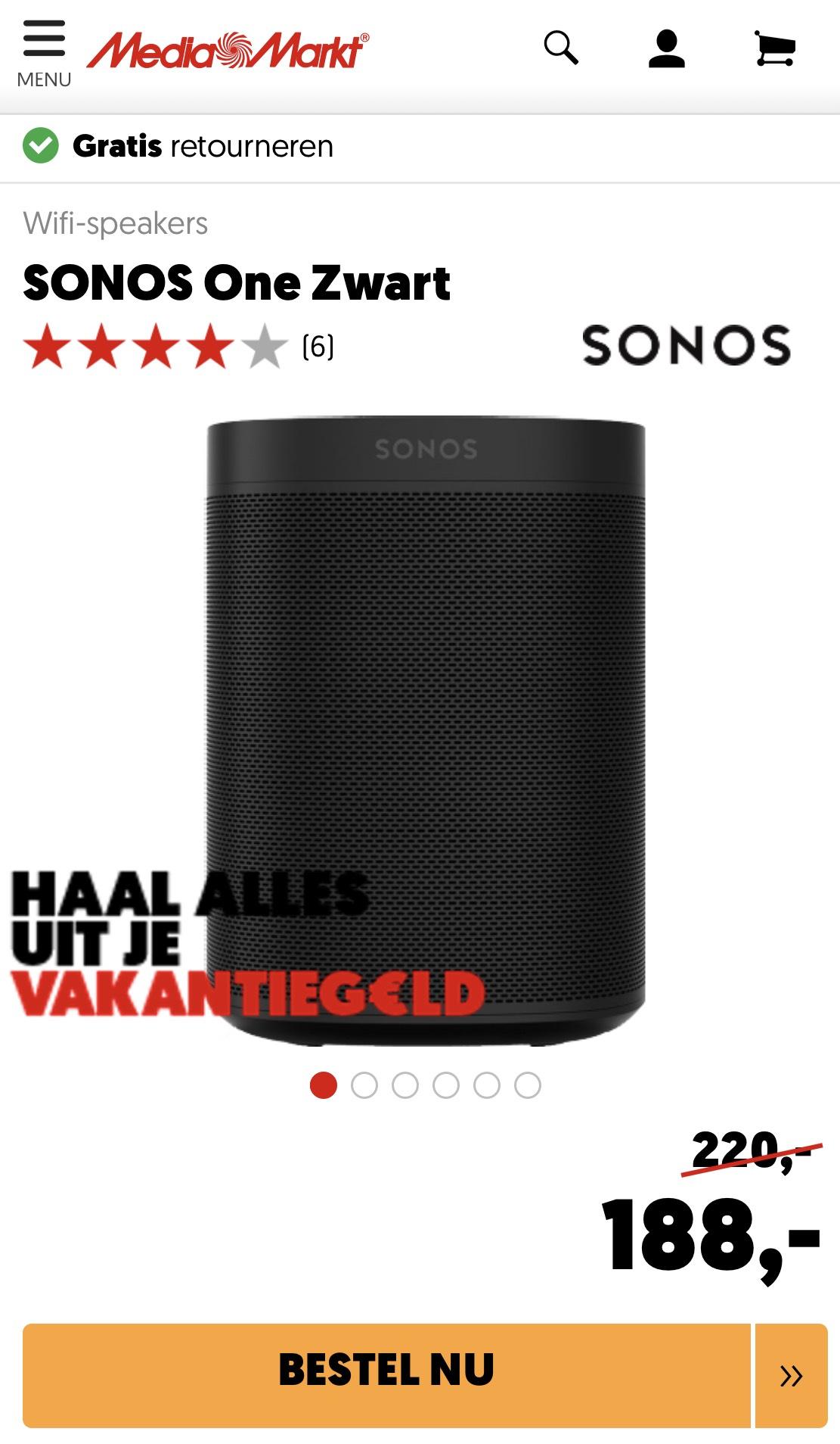 Sonos One / schwarz & weiß / MediaMarkt Niederlande