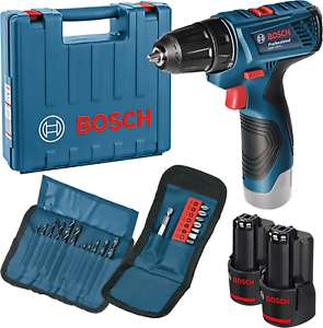 Bosch GSR 120 Li + 2x 1.5Ah Akku + Ladegerät + Zubehörset *+ Koffer (Neuware mit Rechnung)
