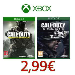 Call of Duty IW + Ghosts für 2,99 bei Gamesflat für XBOX ONE