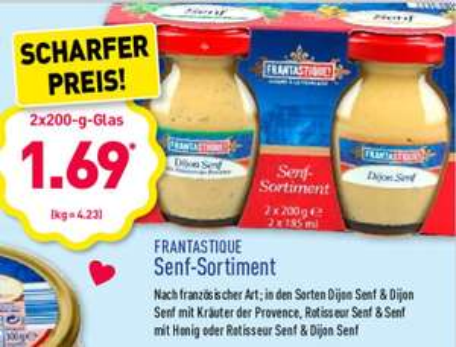 2x 200g Dijon-Senf für 1,69€ bei Aldi Nord ab Freitag, 07.06.