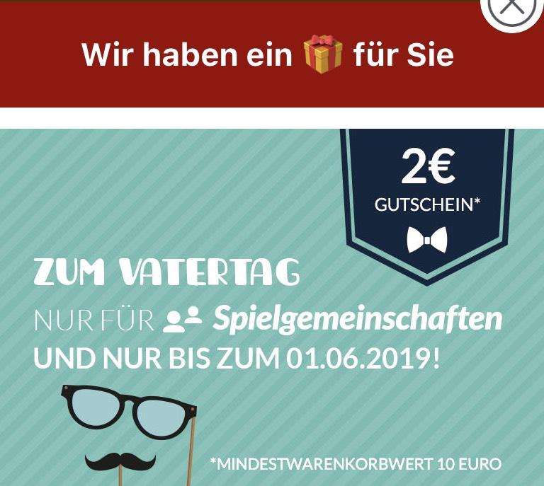 [Lotto24] 2 € Geschenkt zum Vatertag - auch Bestandskunden!