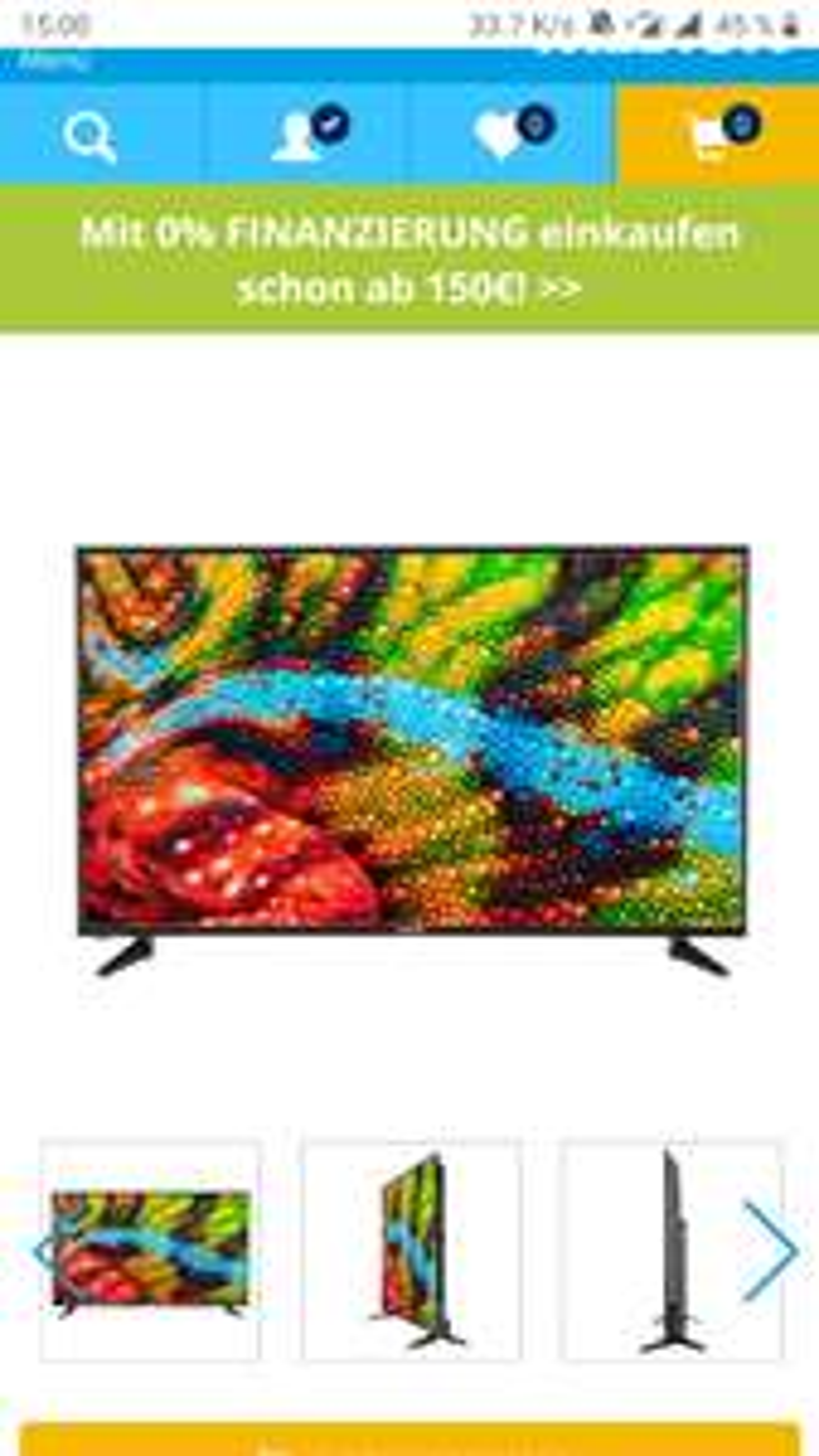 "MEDION® LIFE® P15522 Smart-TV, 146,1 cm (58"") Ultra HD Display,HDR, PVR ready, Netflix, DTS HD, HD Triple Tuner, CI+ (B-Ware)"
