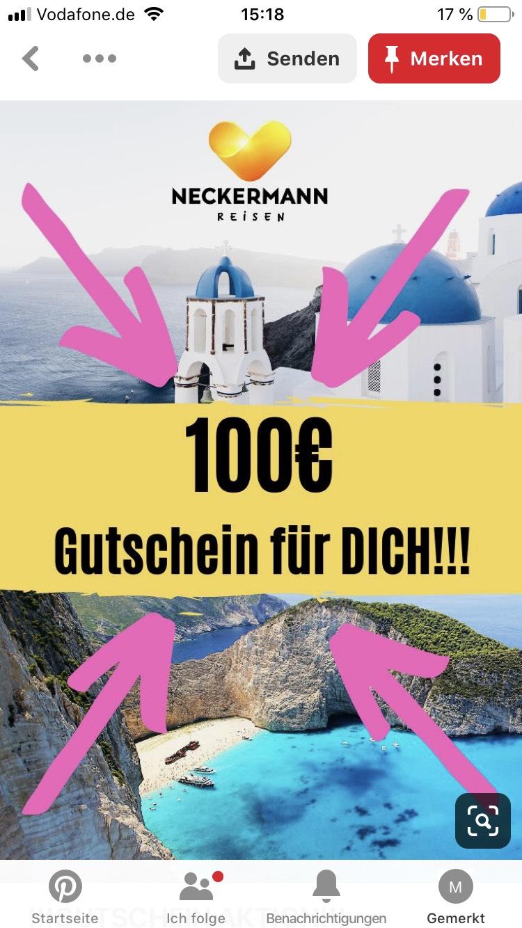 Last Minute Reisen 100€ Gutschein (Direktabzug)