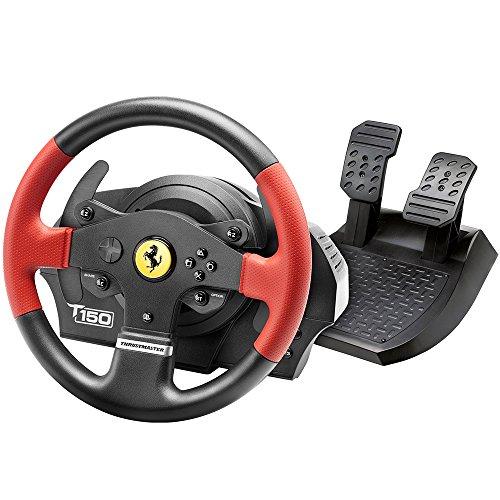 Thrustmaster T150 Ferrari Edition (Lenkrad inkl. 2-Pedalset, Force Feedback, 270° - 1080°, PS4 / PS3 / PC)