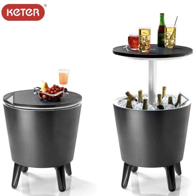[Thomas Philipps on-/offline] Keter Cool Bar - Kühlbox-Stehtisch in anthrazit & weiß