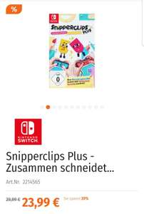 Snipperclips Plus und Saints Row: The Third - Switch (Müller - Aktion Kindertag)