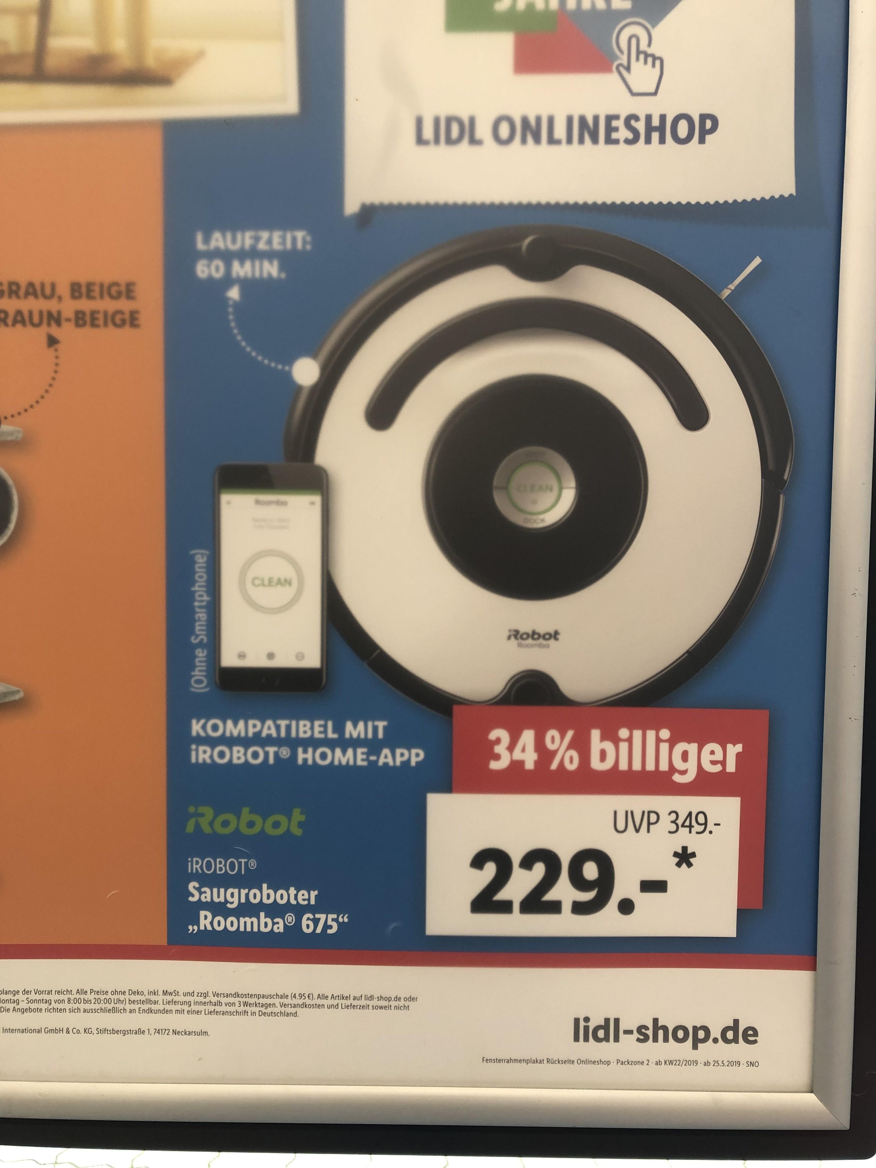 iRobot Roomba 675. Lidl online.