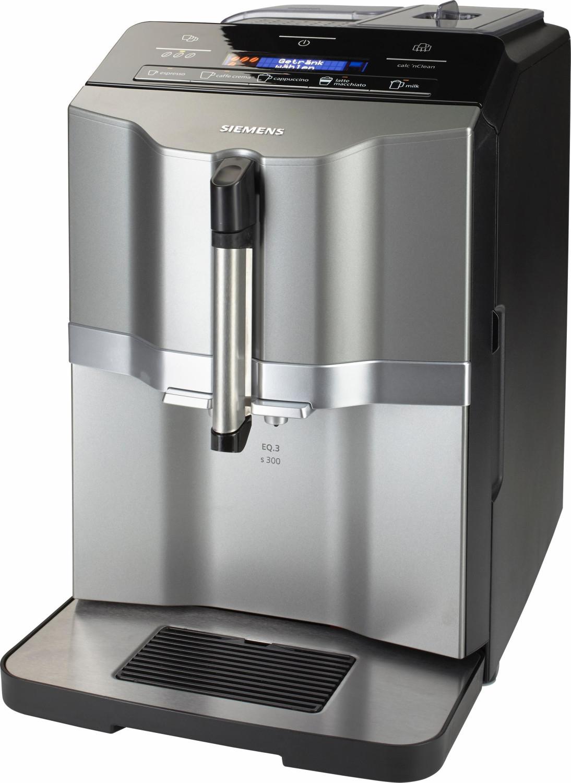 Kaffeevollautomat Siemens EQ.3 s300 (1300W, 15bar, 1.4l Wasser, 250g Bohnen, einstellbares Keramikmahlwerk, Milchsystem)