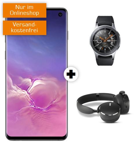 Samsung Galaxy S10 | Watch 46mm BT | Kopfhörer AKG im Vodafone Debitel (6GB LTE, Allnet/SMS) mtl. 36,99€ einm. 79€ [oder Xbox One S Forza]]