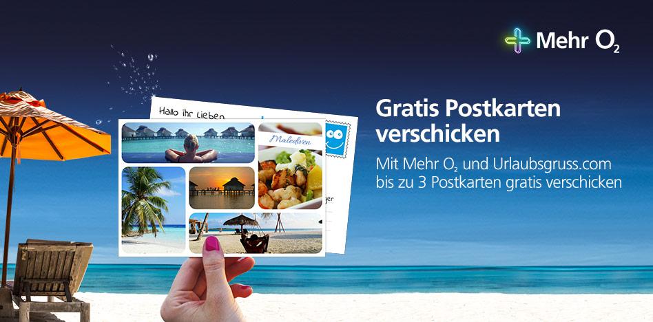 [o2 Kunden] - Bis zu 3 Gratis Postkarten von Urlaubsgruss.com