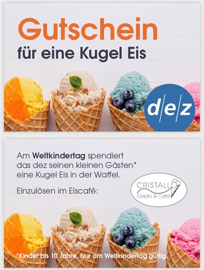 [Lokal Kassel Dez] Eine Kugel Eis gratis für Kinder bis 10j am 01.06. (Weltkindertag)