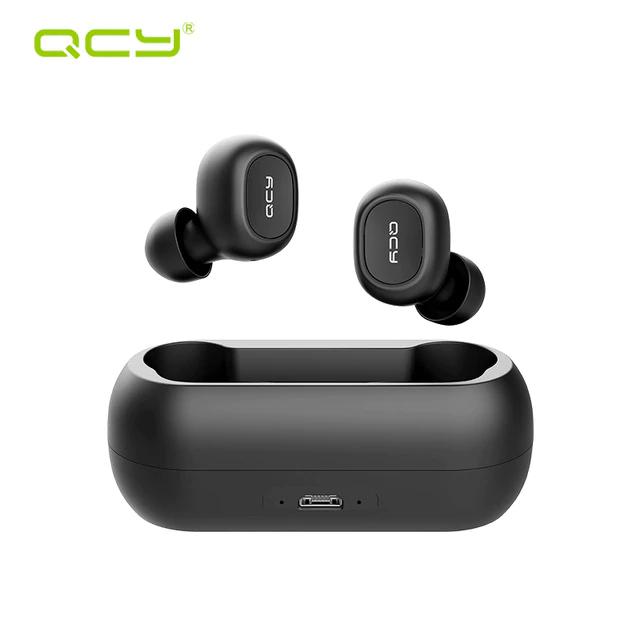 QCY T1C Mini Bluetooth 5.0 Wireless Music Earphones - Black TWS Headphone Kopfhörer
