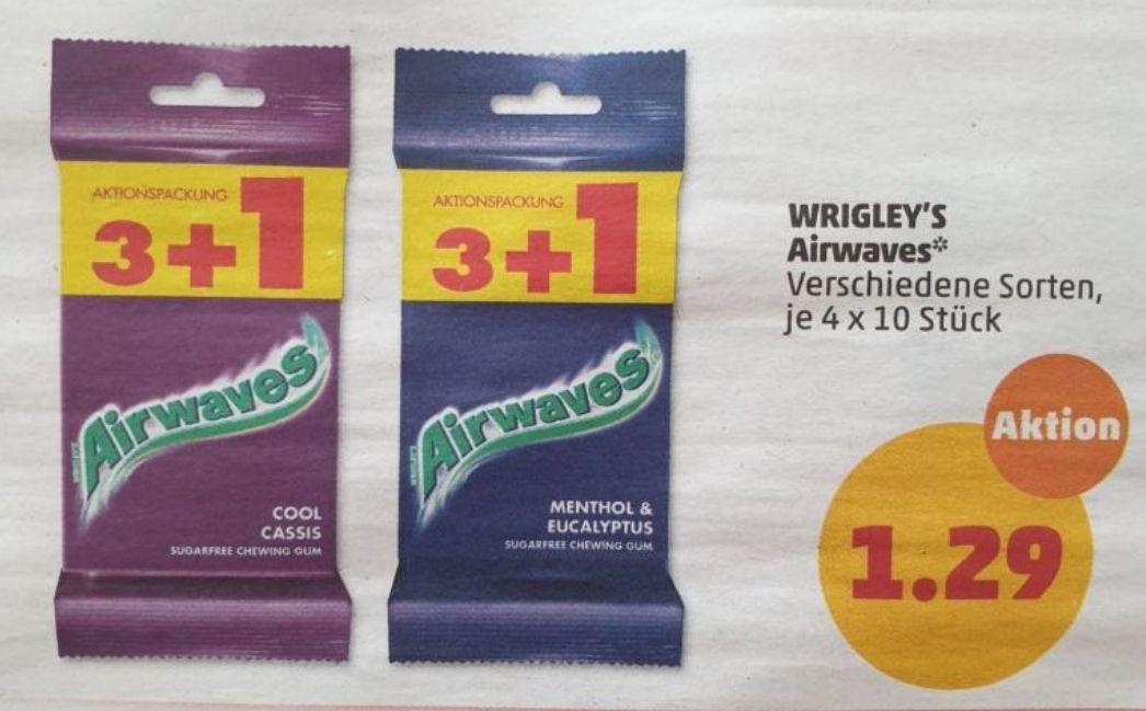 [Penny] Ab 3.6 3+1 Wrigley's Airwaves vers. Sorten für 1.29€
