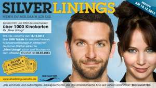 Kostenlos ins Kino zu: Silver Linings am 18.12.12 (5 Städte)