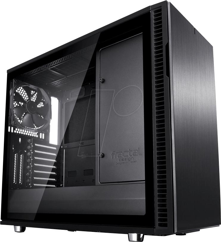 Fractal Design Define R6 Blackout TG, Tower-Gehäuse (schwarz, Window-Kit)
