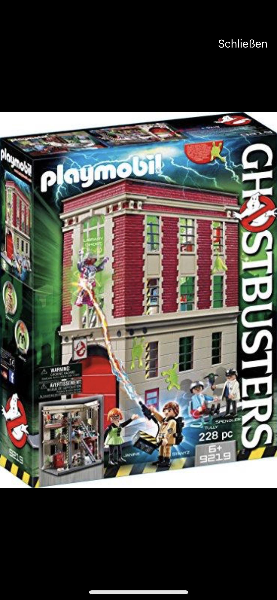 Playmobil 9219 Ghostbusters Feuerwache Lokal Real Singen