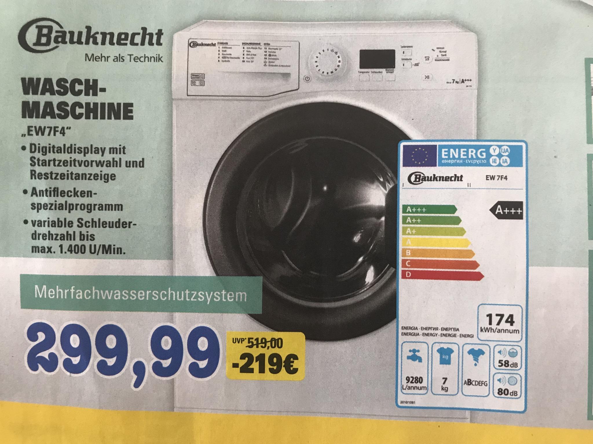[Lokal] Waschmaschine Bauknecht EW 7F4