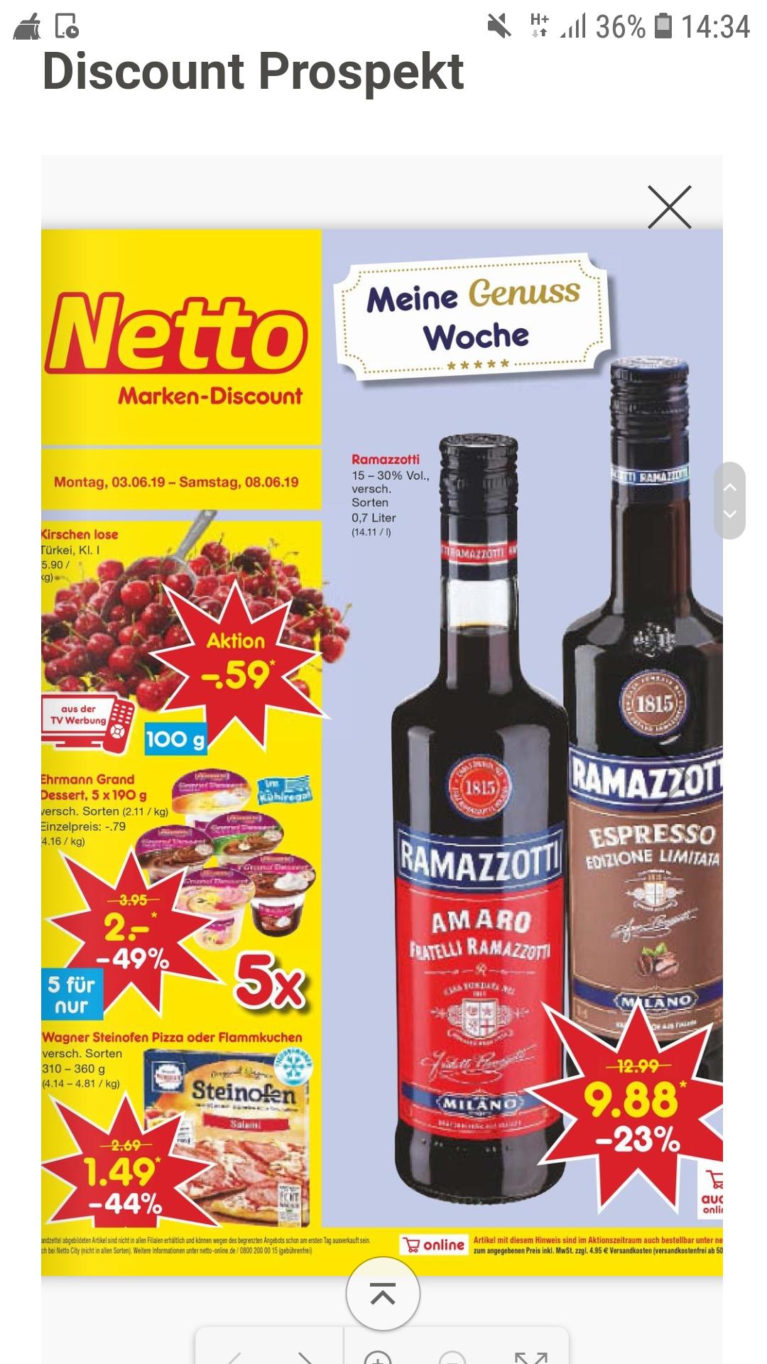 Ehrmann Grand Dessert 5 für nur 2.- bei Netto Makendiscount