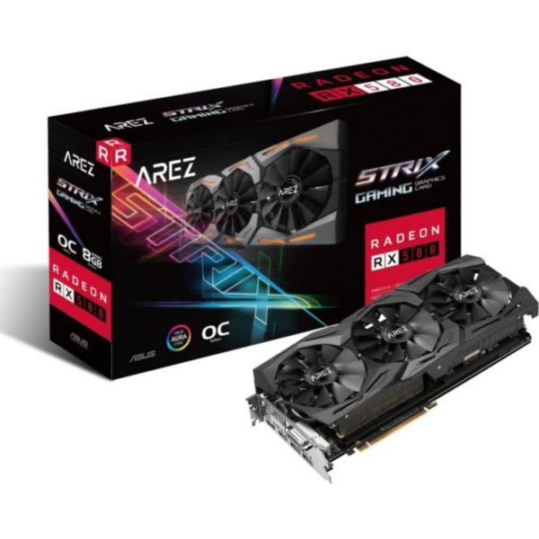 Asus AMD Radeon AREZ Strix RX 580 OC Grafikkarte 8GB GDDR5 + 5 Spiele Gratis !!